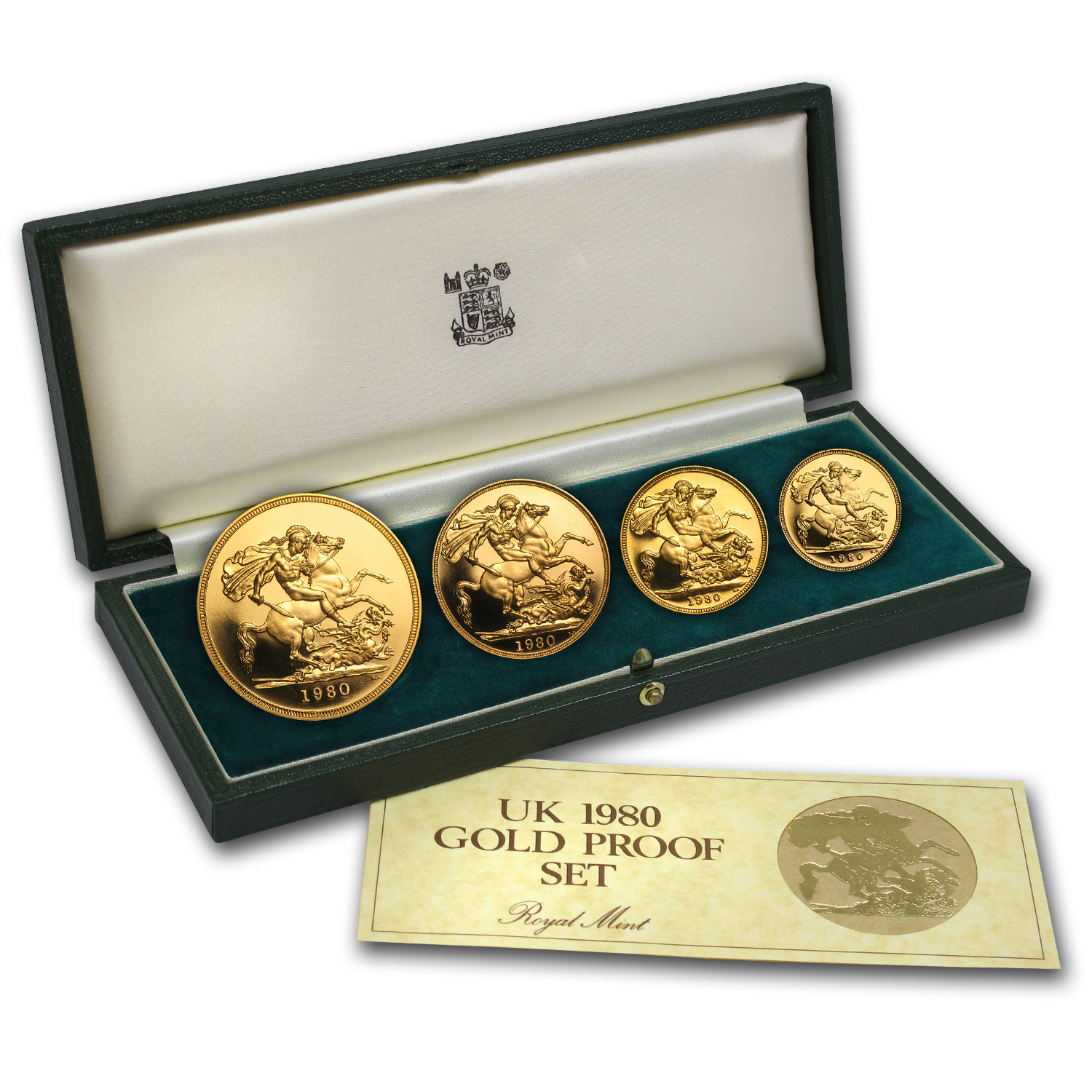 1980 Great Britain 4-Coin Gold Proof Set