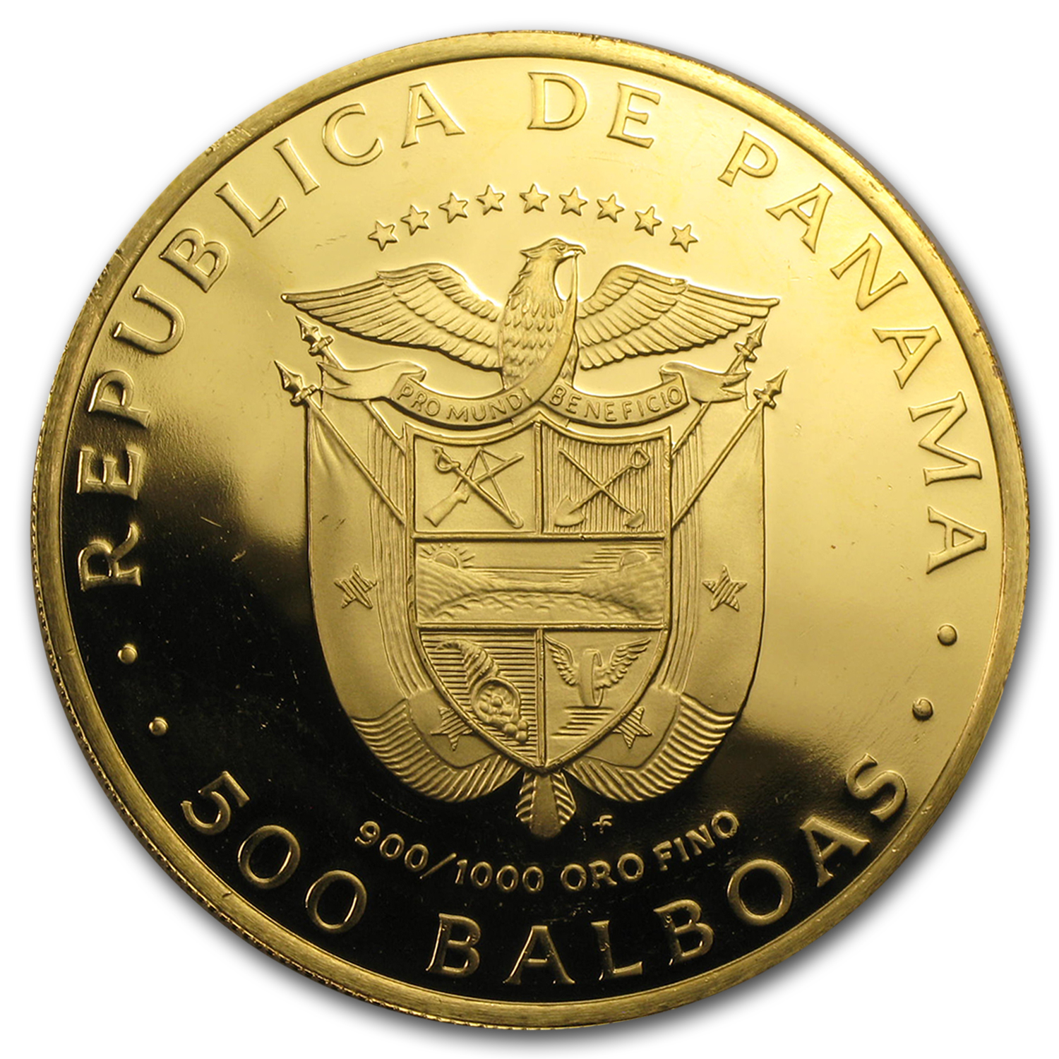 1975-77 Panama Gold 500 Balboas BU/Proof (Random)