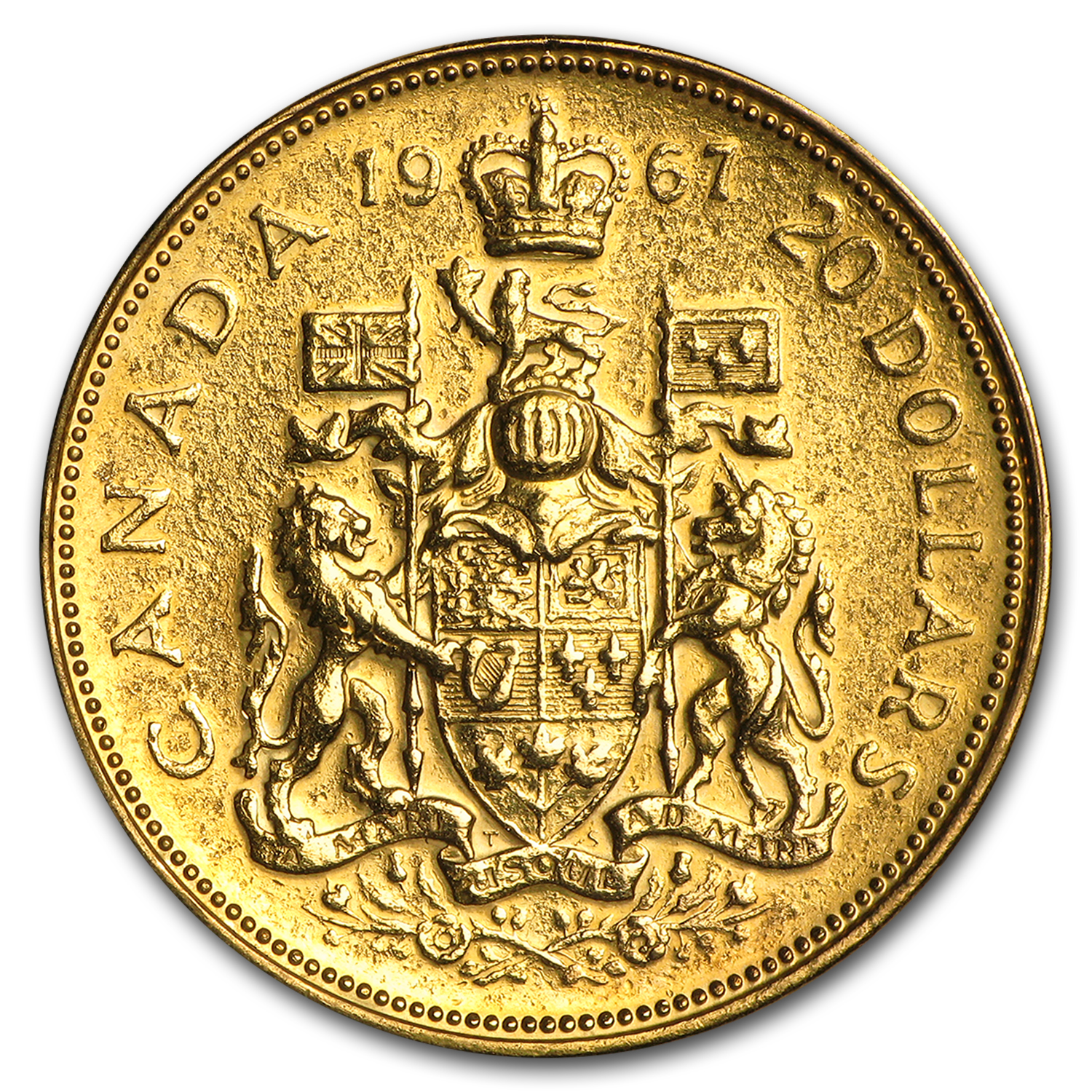 Canada 1967 Proof Gold $20 .5288 AGW (Abrasions)