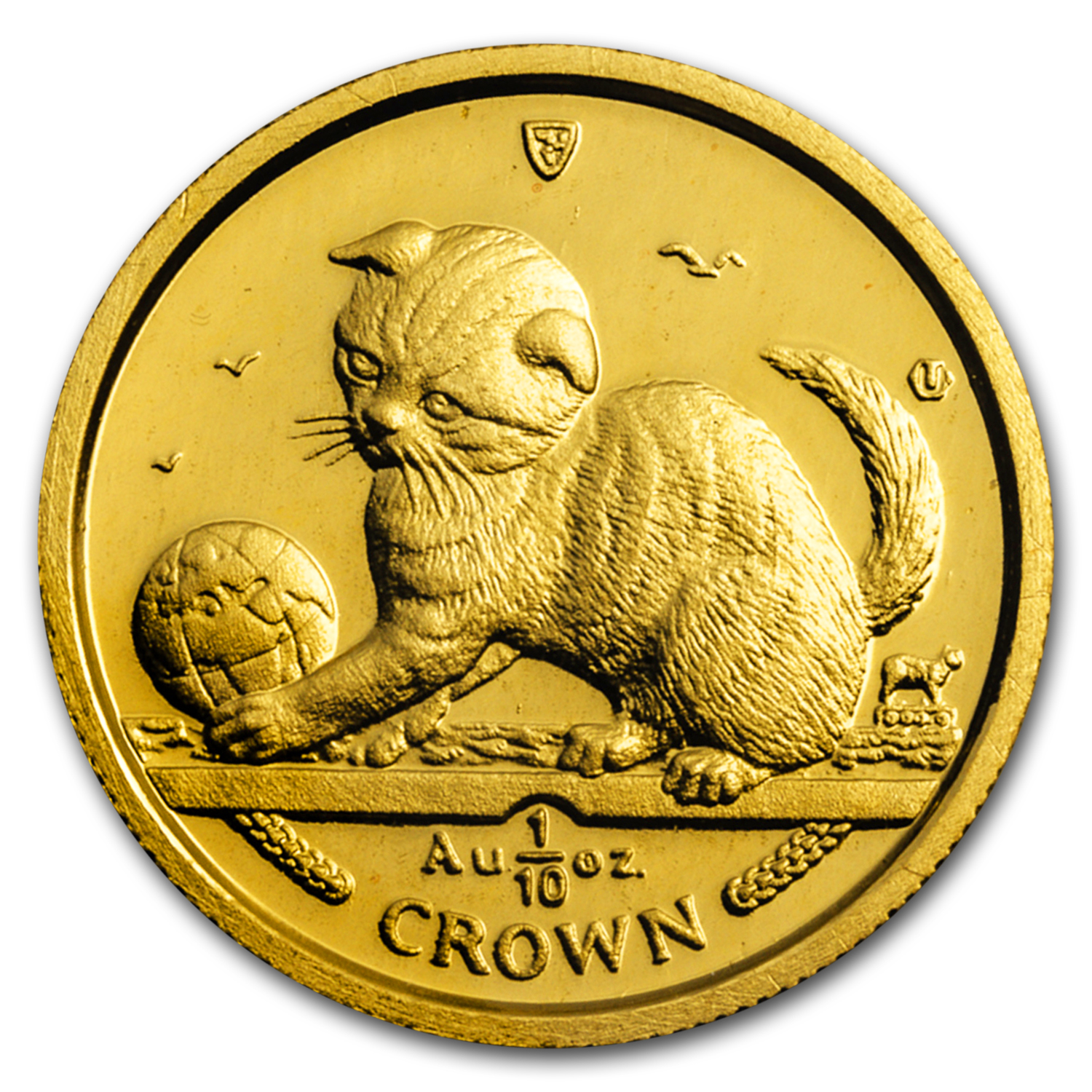 2000 Isle of Man 1/10 oz Gold Scottish Kitten