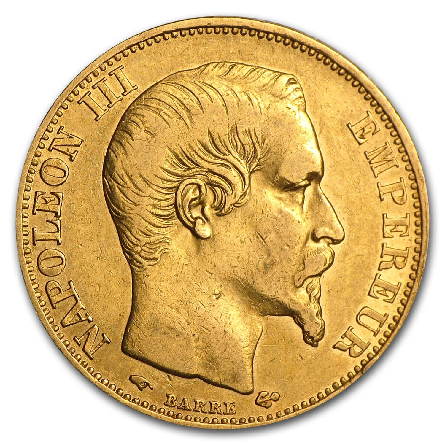 1853-1869 France Gold 20 Francs Napoleon III XF