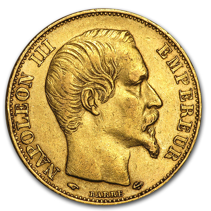 French Gold 20 Francs (Napoleon III) (XF)