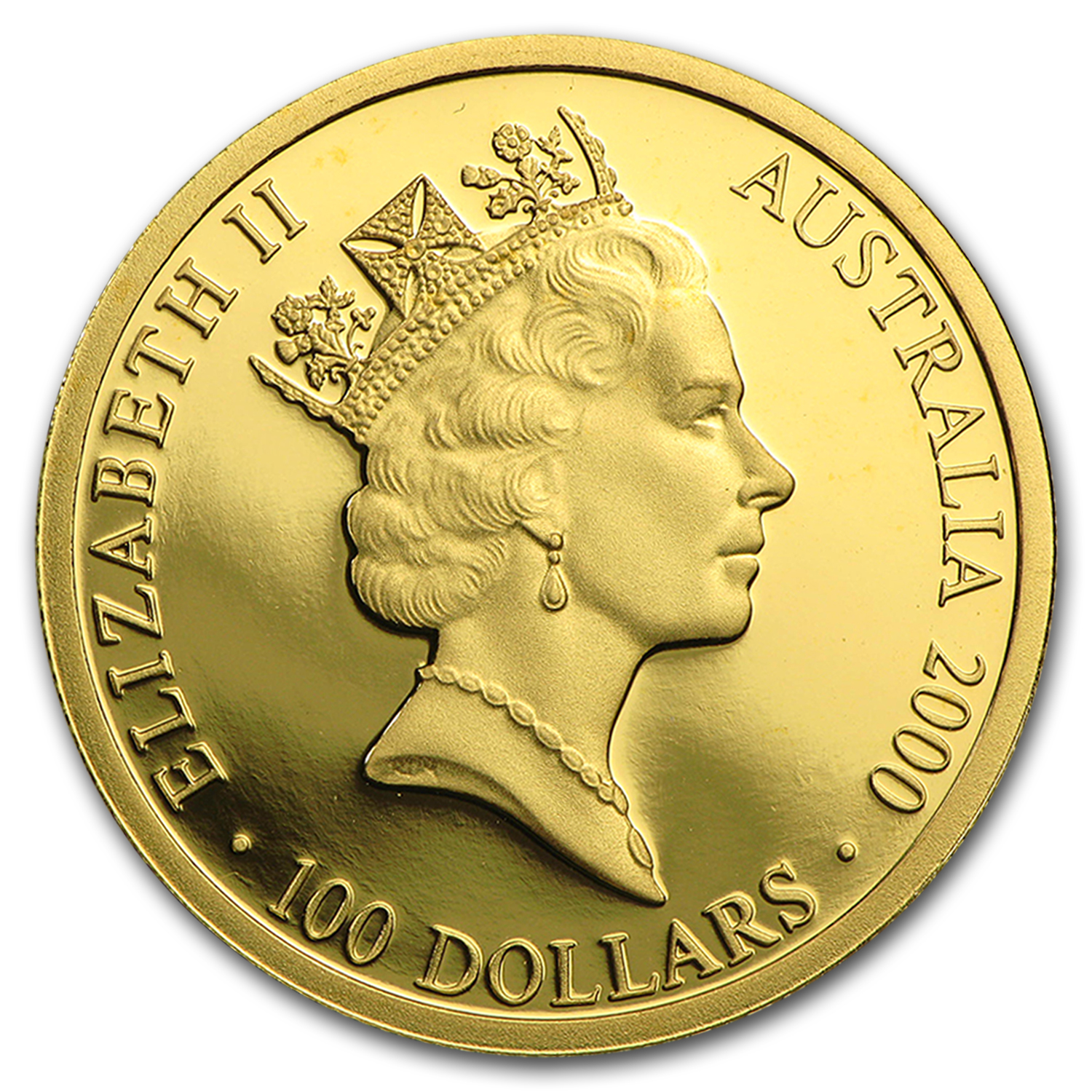 2000 Australia Proof Gold $100 Olympics Runner in Rain