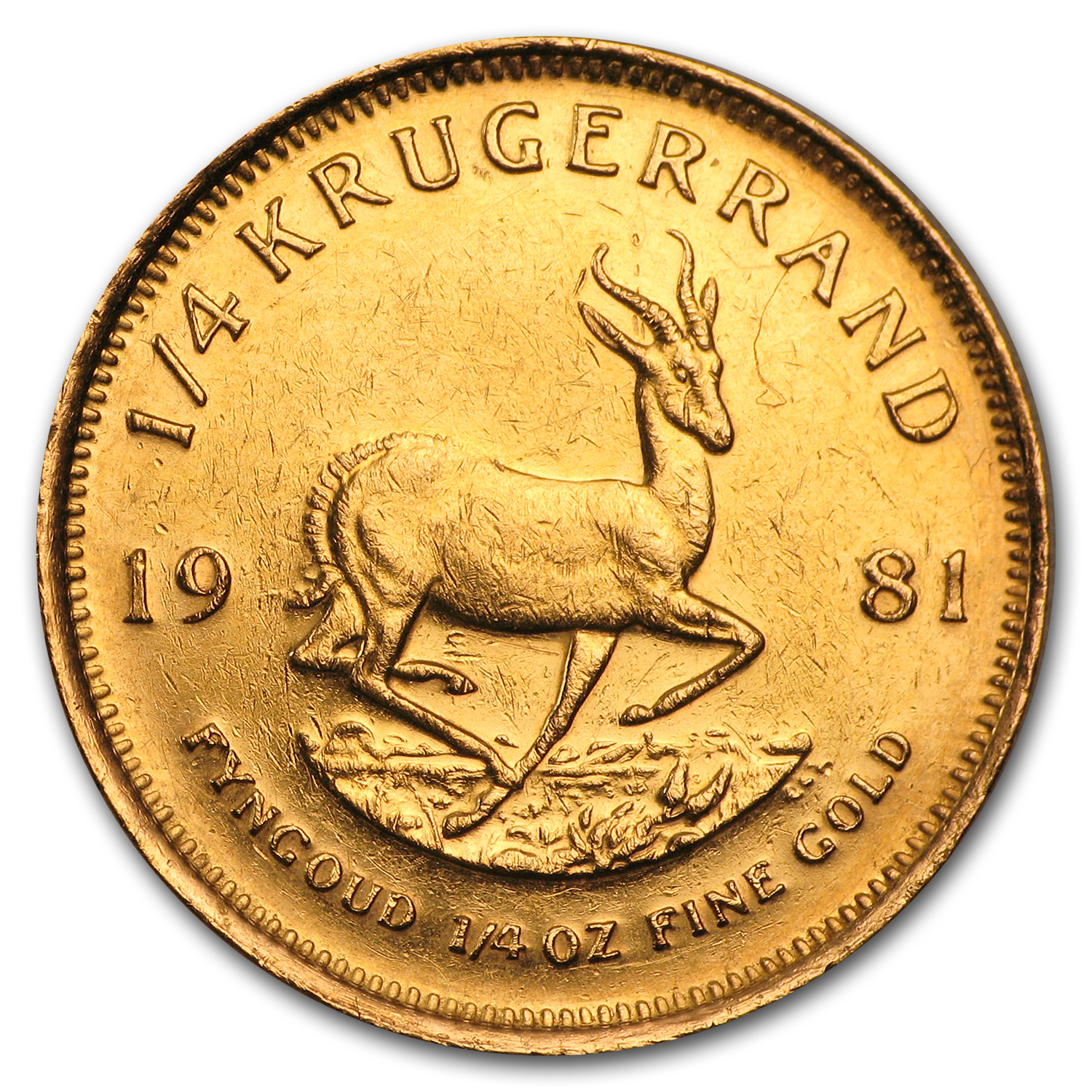 1/4 oz Gold South African Krugerrand (Abrasions)