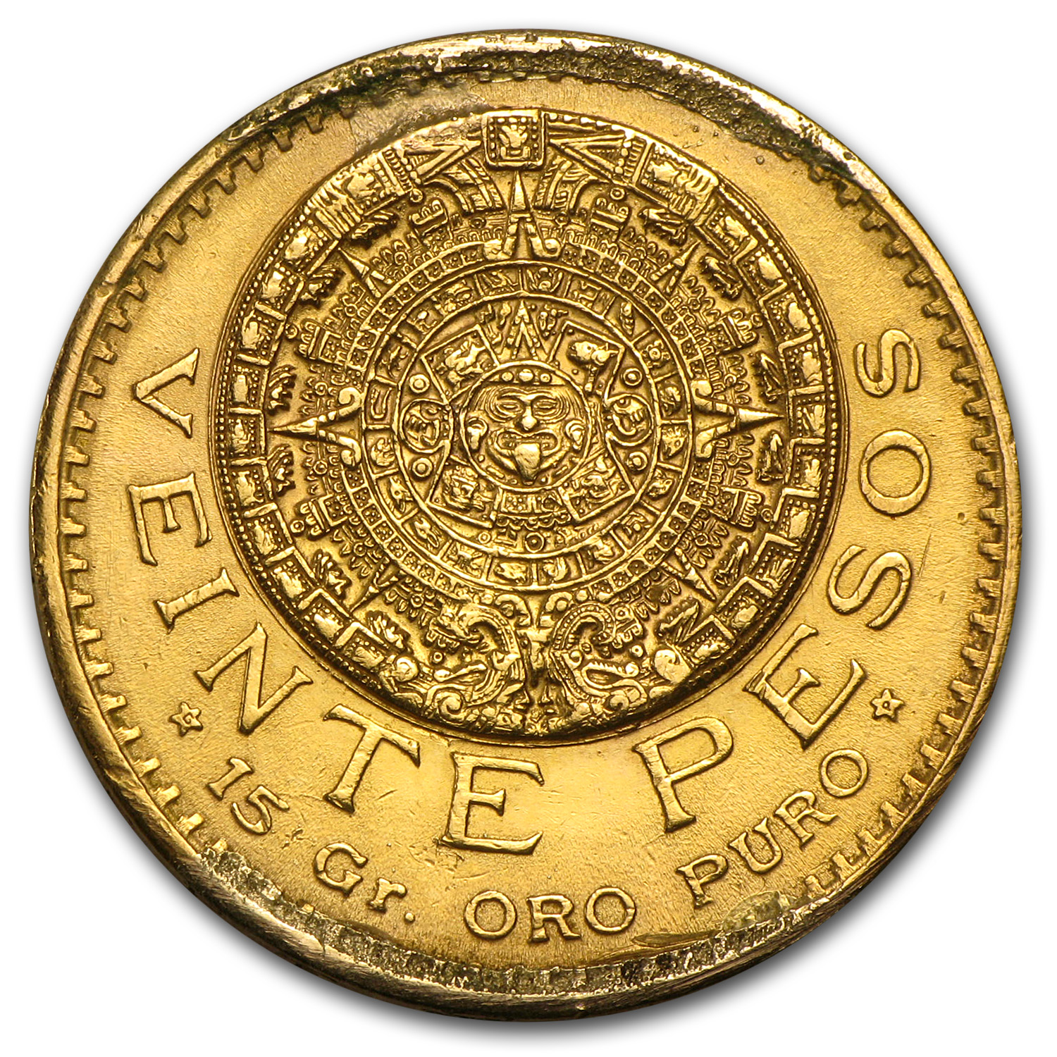 1921/11 Mexico Gold 20 Pesos (Cleaned)