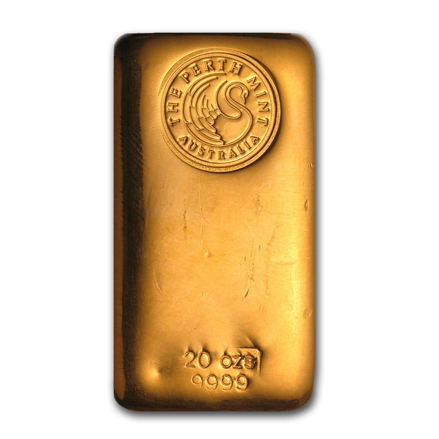 20 oz Gold Bar - Perth Mint (Poured, Loaf-Style)