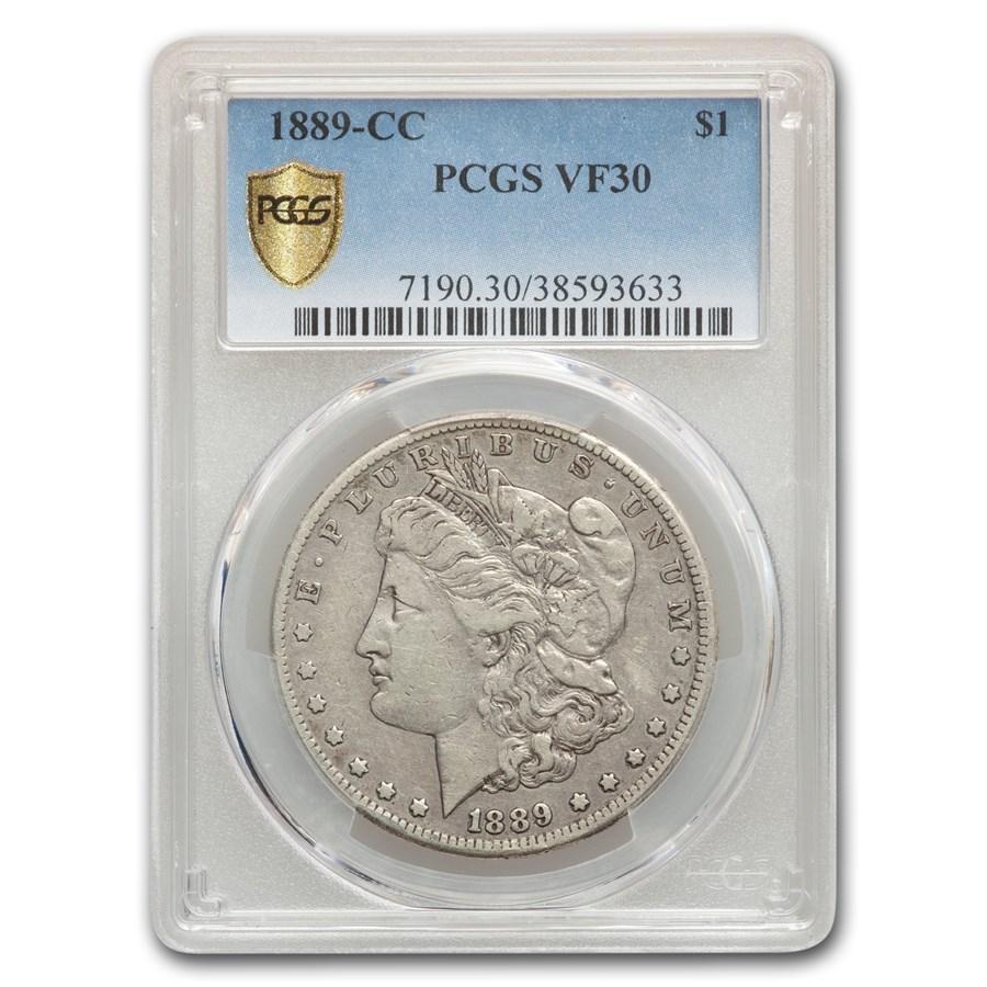 1889 Cc Morgan Silver Dollar Vf 30 Pcgs Value Of Silver
