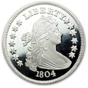 2 Oz Silver Round Bust Dollar 1804 2 Oz Silver