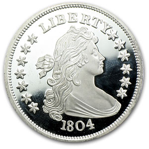 2 oz Silver Rounds - Bust Dollar (1804)