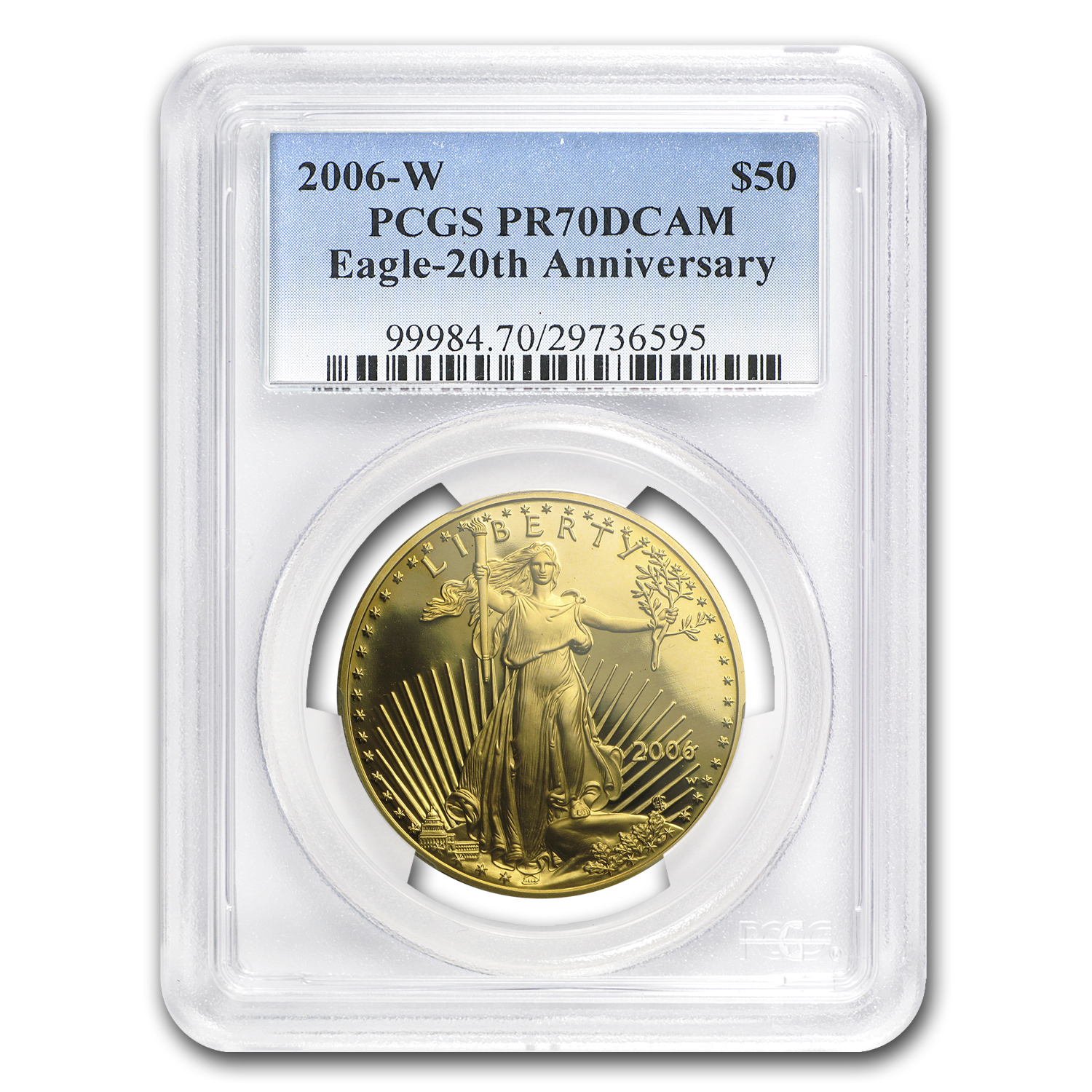 2006-W 1 oz Proof Gold American Eagle PR-70 PCGS