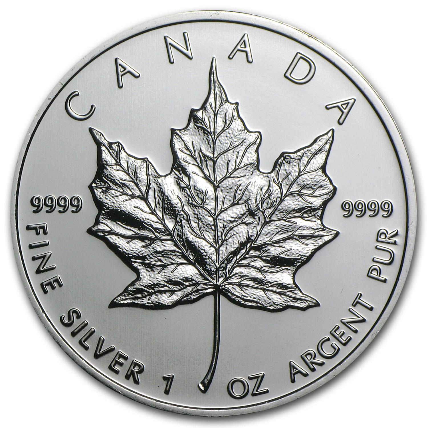 2009 Canada 1 Oz Silver Maple Leaf Bu Silver Maple Leafs