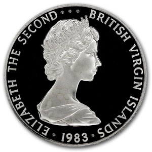 1973-84 British Virgin Islands Silver Dollar Birds BU/Proof