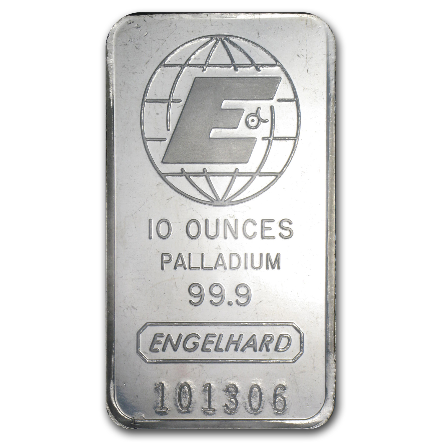 10 oz Engelhard Palladium Bar .999 Fine (No Assay)