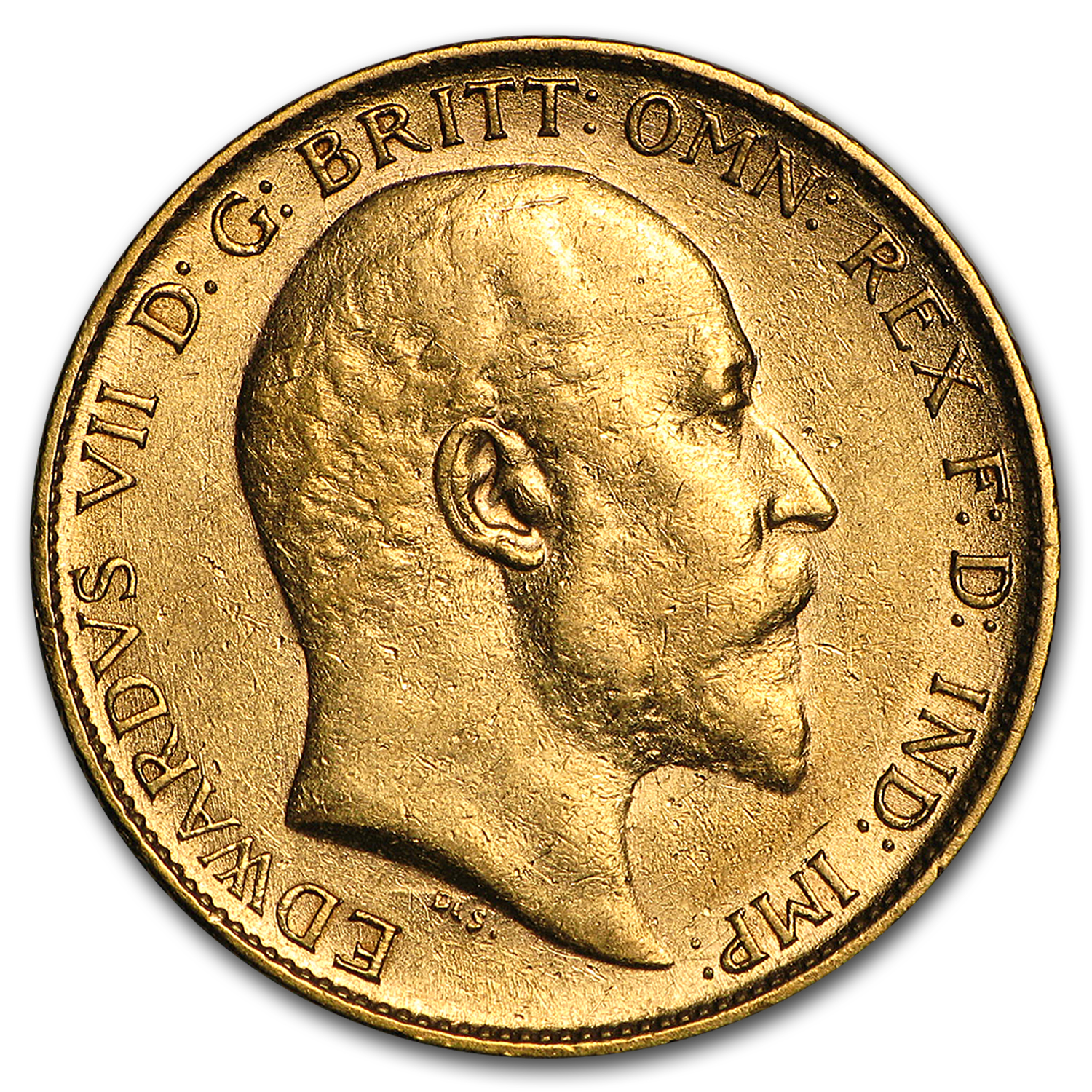 1902-1910 Great Britain Gold 1/2 Sovereign Edward VII XF