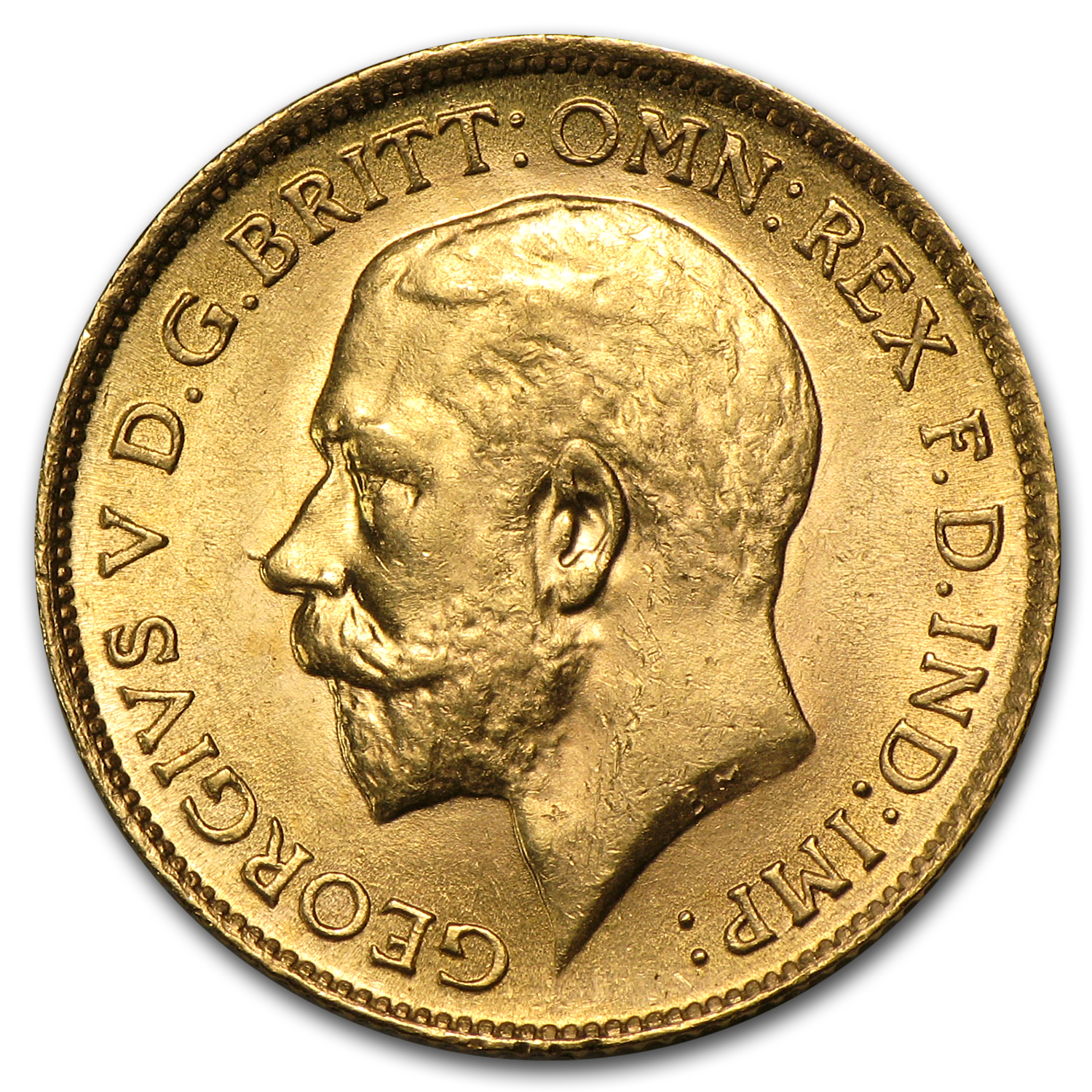 1911-1925 Great Britain Gold 1/2 Sovereign George V BU