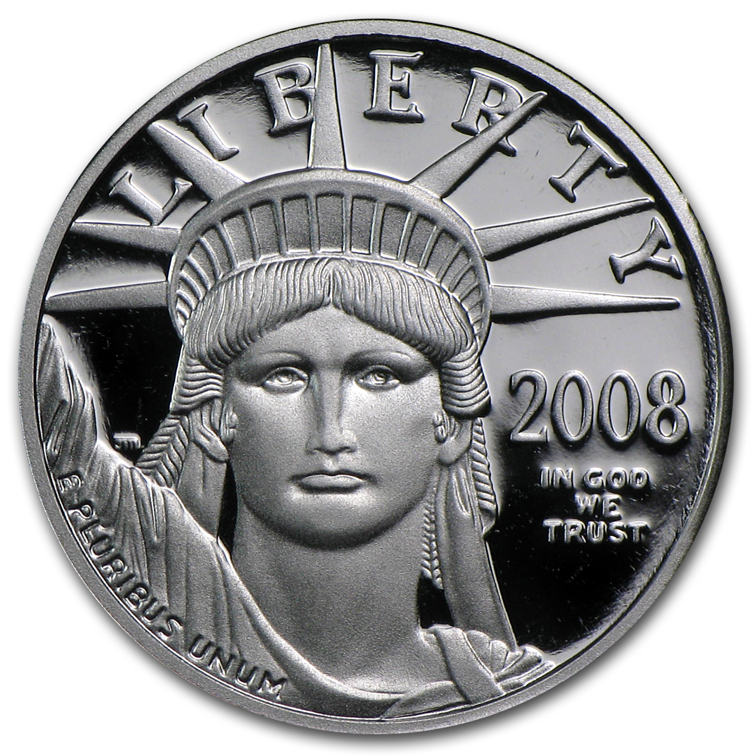 2008-W 1/10 oz Proof Platinum American Eagle (w/Box & COA)