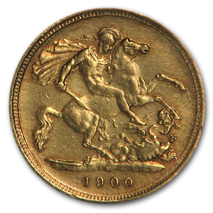 Great Britain Gold 1/2 Sovereigns (Victoria Veil Head) (Scruffy)