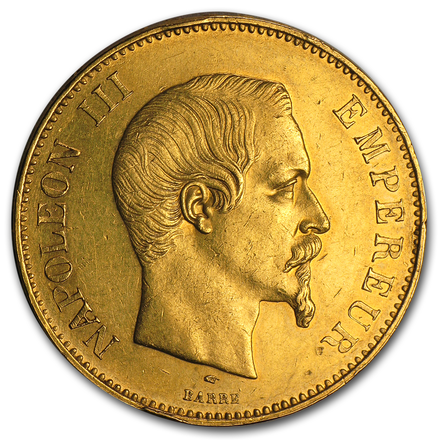 French Gold 100 Francs (Napoleon III) (AU)