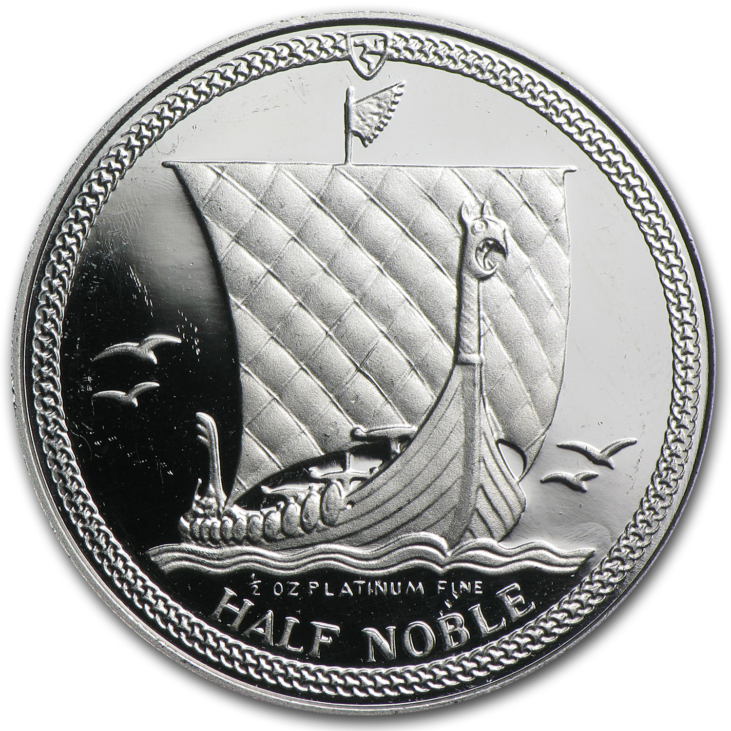 1/2 oz Isle of Man Platinum Noble Proof