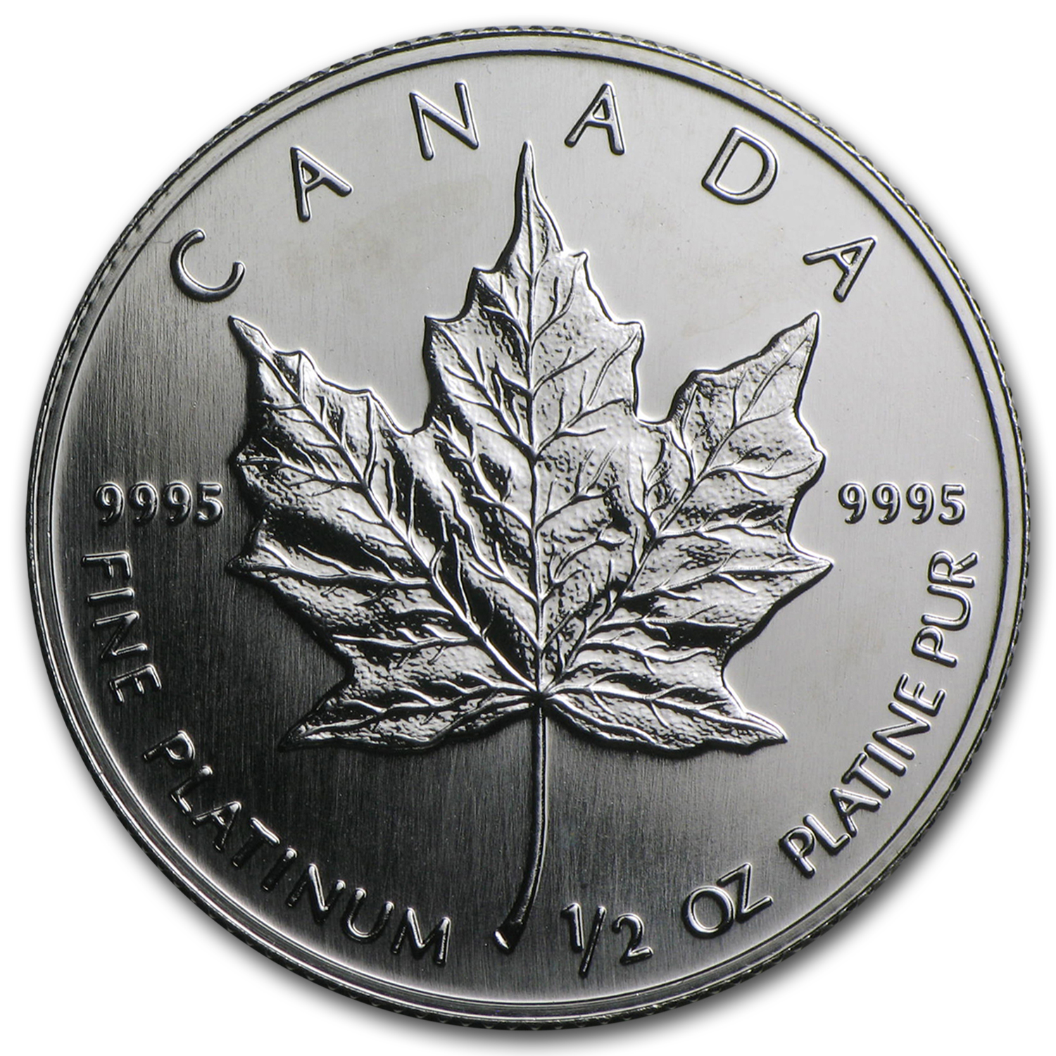 1/2 oz Canadian Platinum Maple Leaf (Random Year)