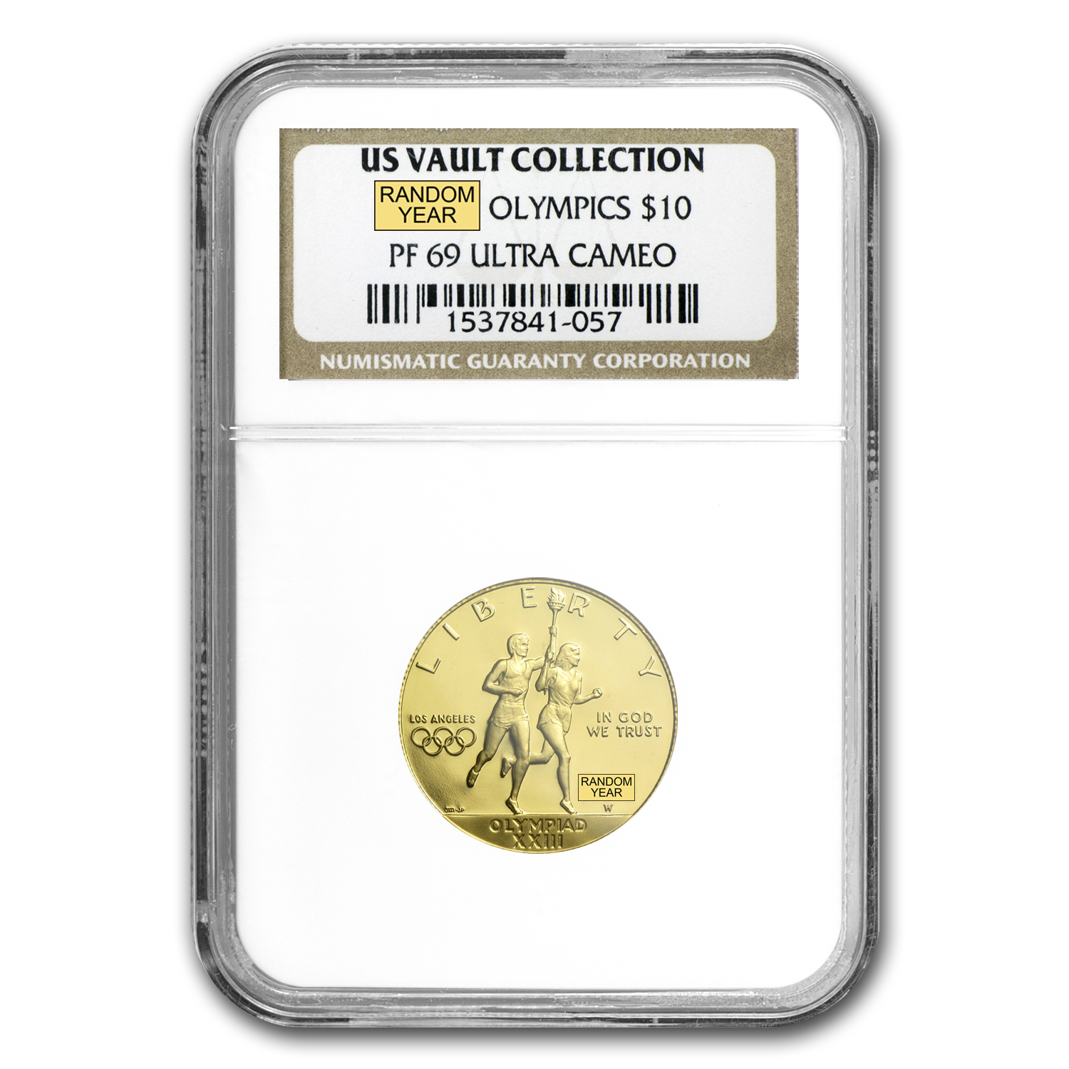 U.S. Mint Gold $10 Commem MS & PF-69 NGC/PCGS