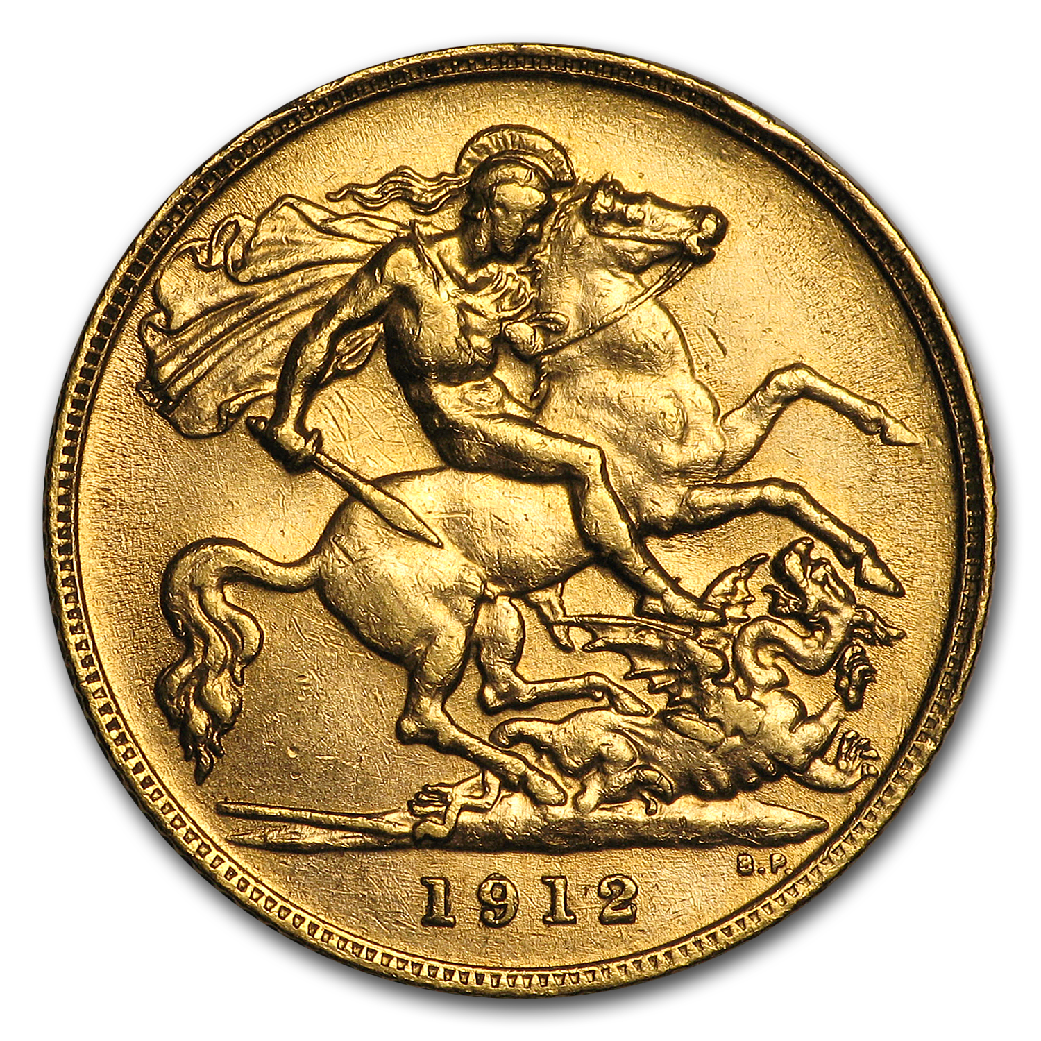 South Africa Gold 1/2 Sovereign George V Average Circ
