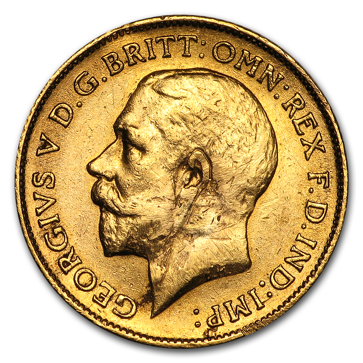 South Africa Gold 1/2 Sovereign George V Avg Circ