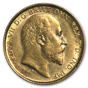 Australia 1/2 Sovereign Gold Edward VII Extra Fine or Better