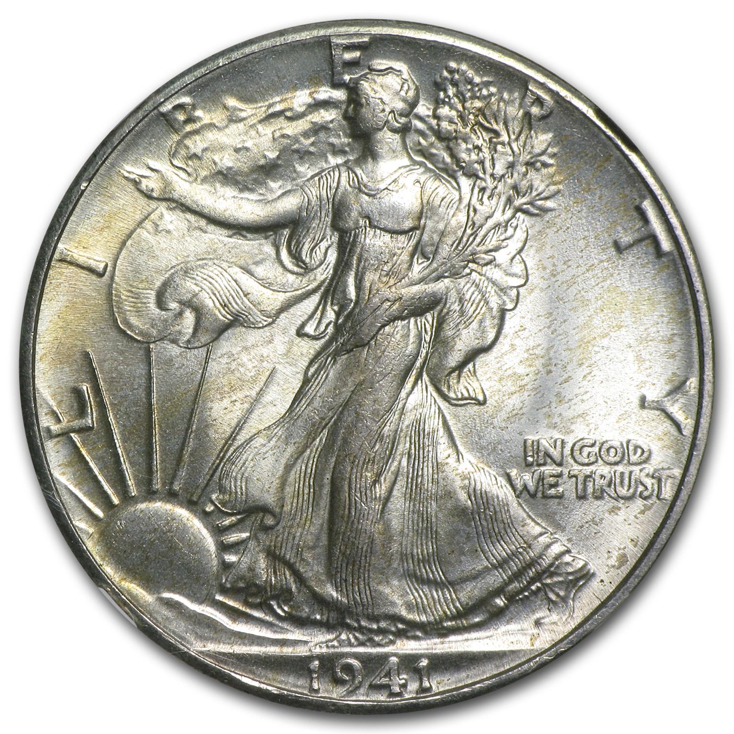 1941 Walking Liberty Half Dollar MS-64 NGC