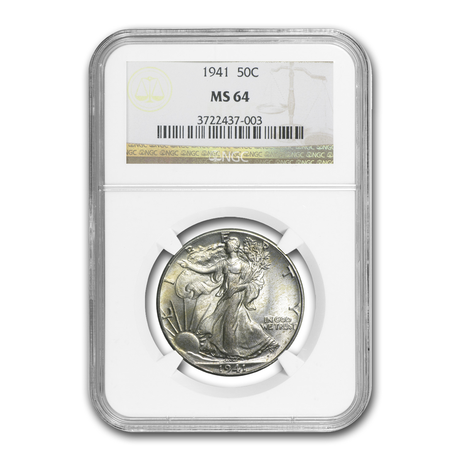 1941 Walking Liberty Half Dollar - MS-64 NGC