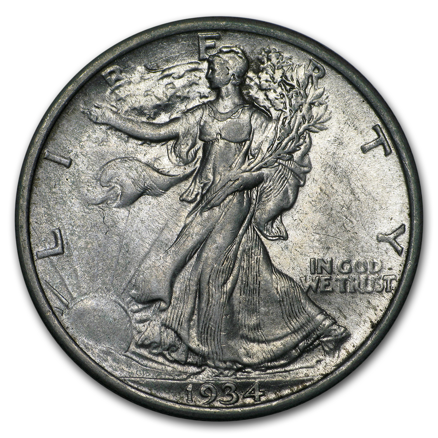 1934 Walking Liberty Half Dollar AU