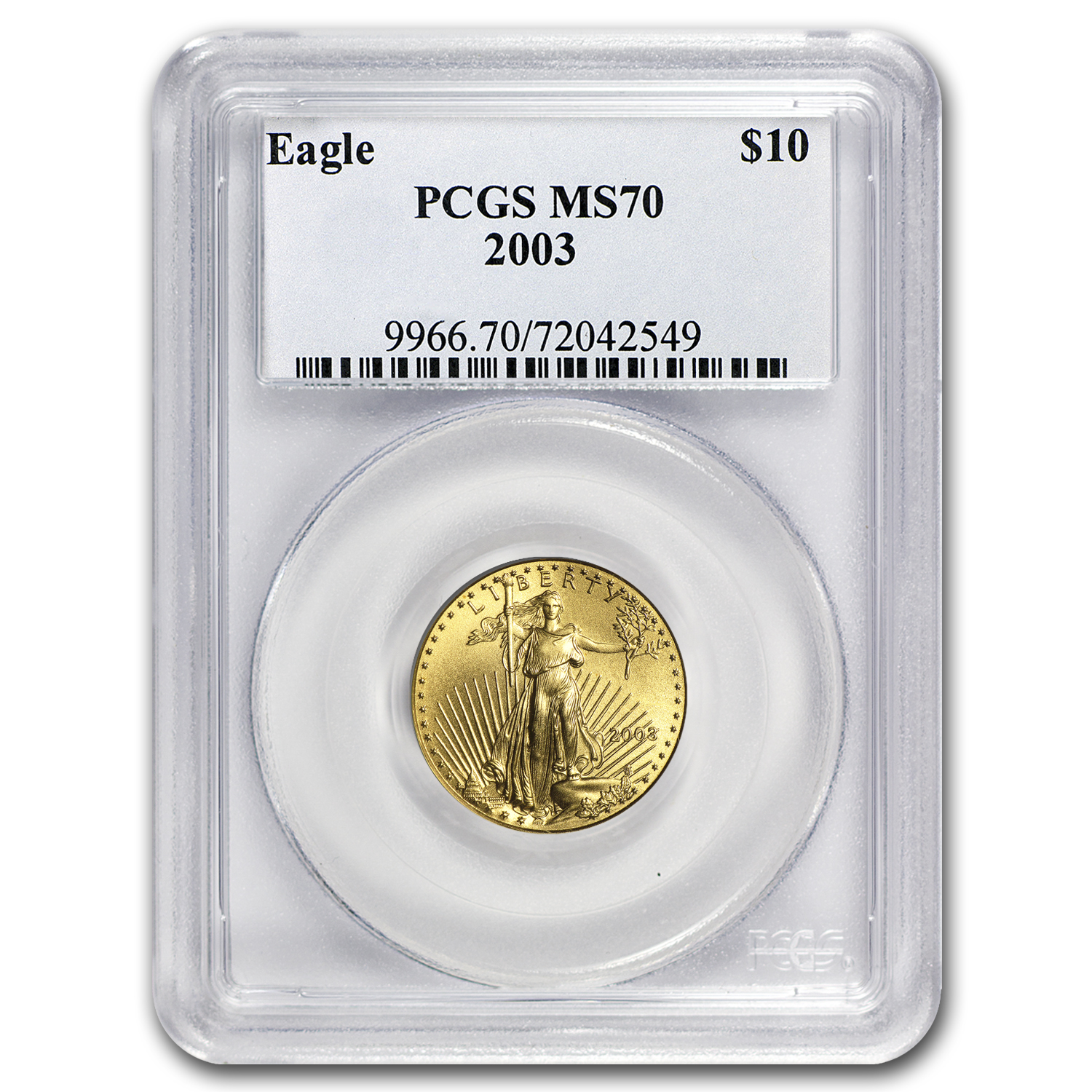 2003 1/4 oz Gold American Eagle MS-70 PCGS