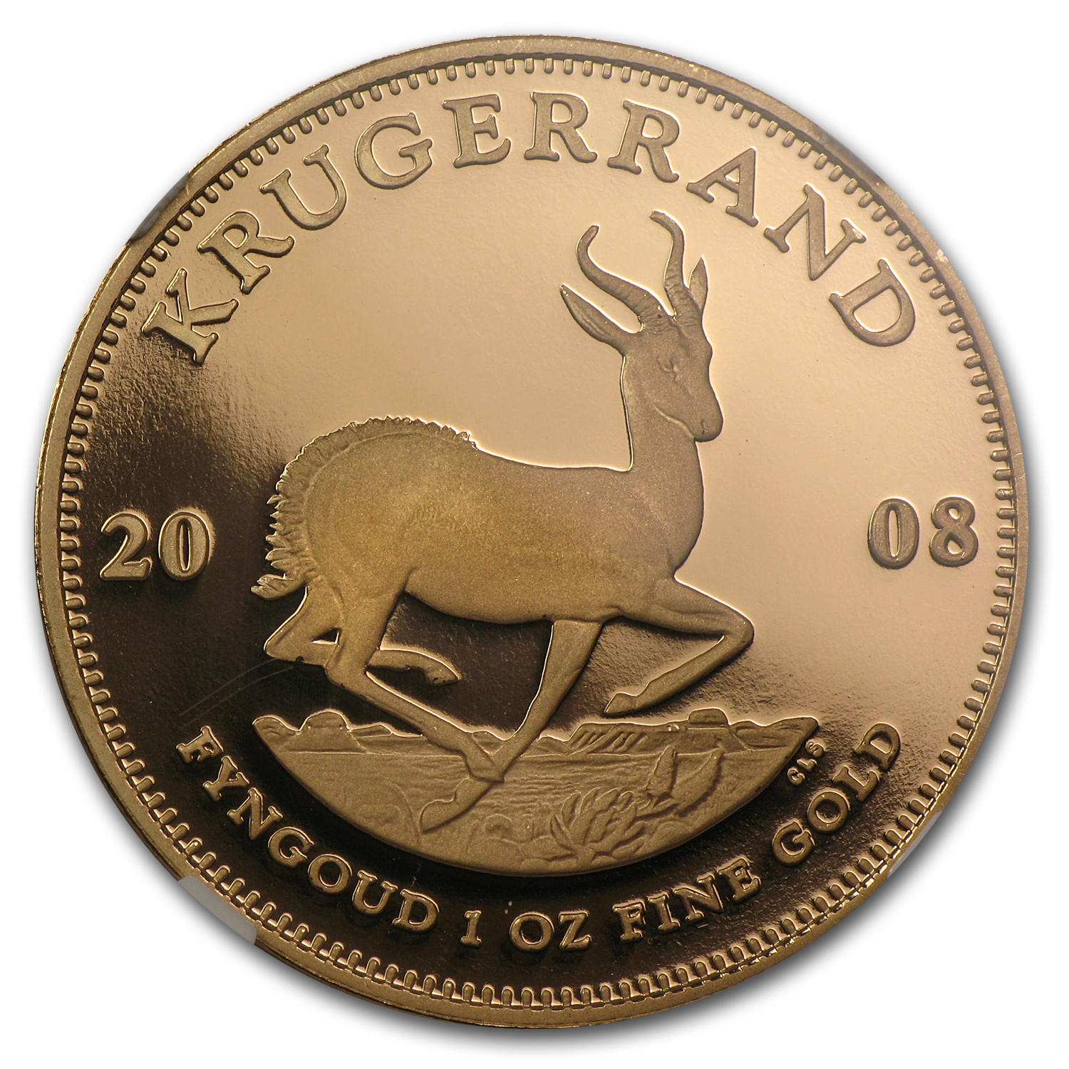 2008 1 oz Gold South African Krugerrand PF-70 NGC