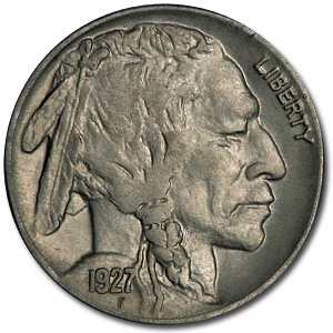 1927 Buffalo Nickel AU