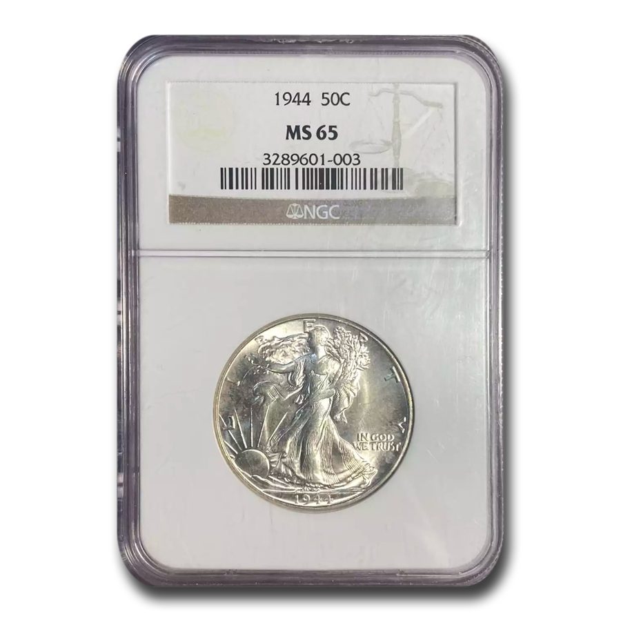 1944 Walking Liberty Half Dollar MS-65 NGC
