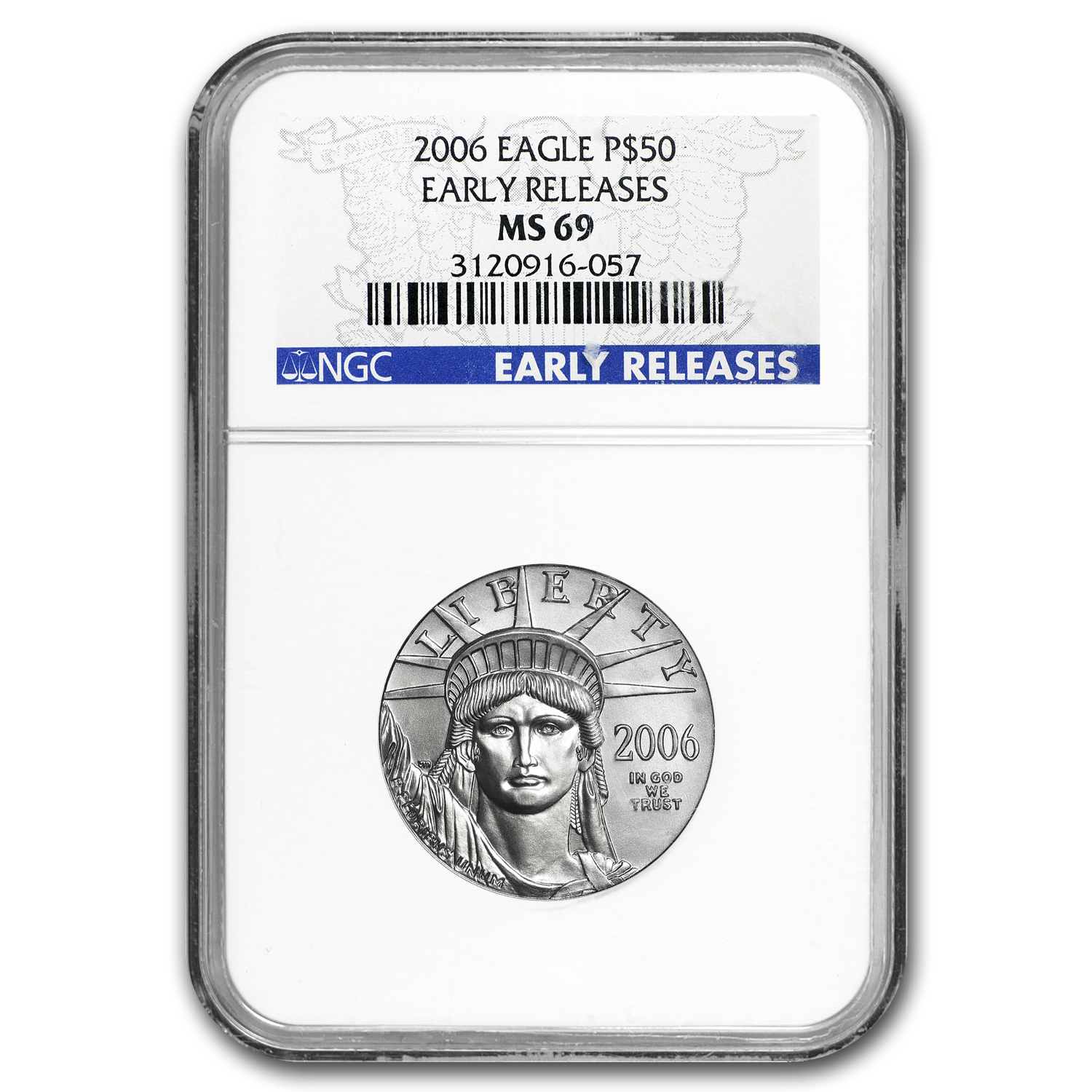 2006 1/2 oz Platinum American Eagle MS-69 NGC (Early Releases)