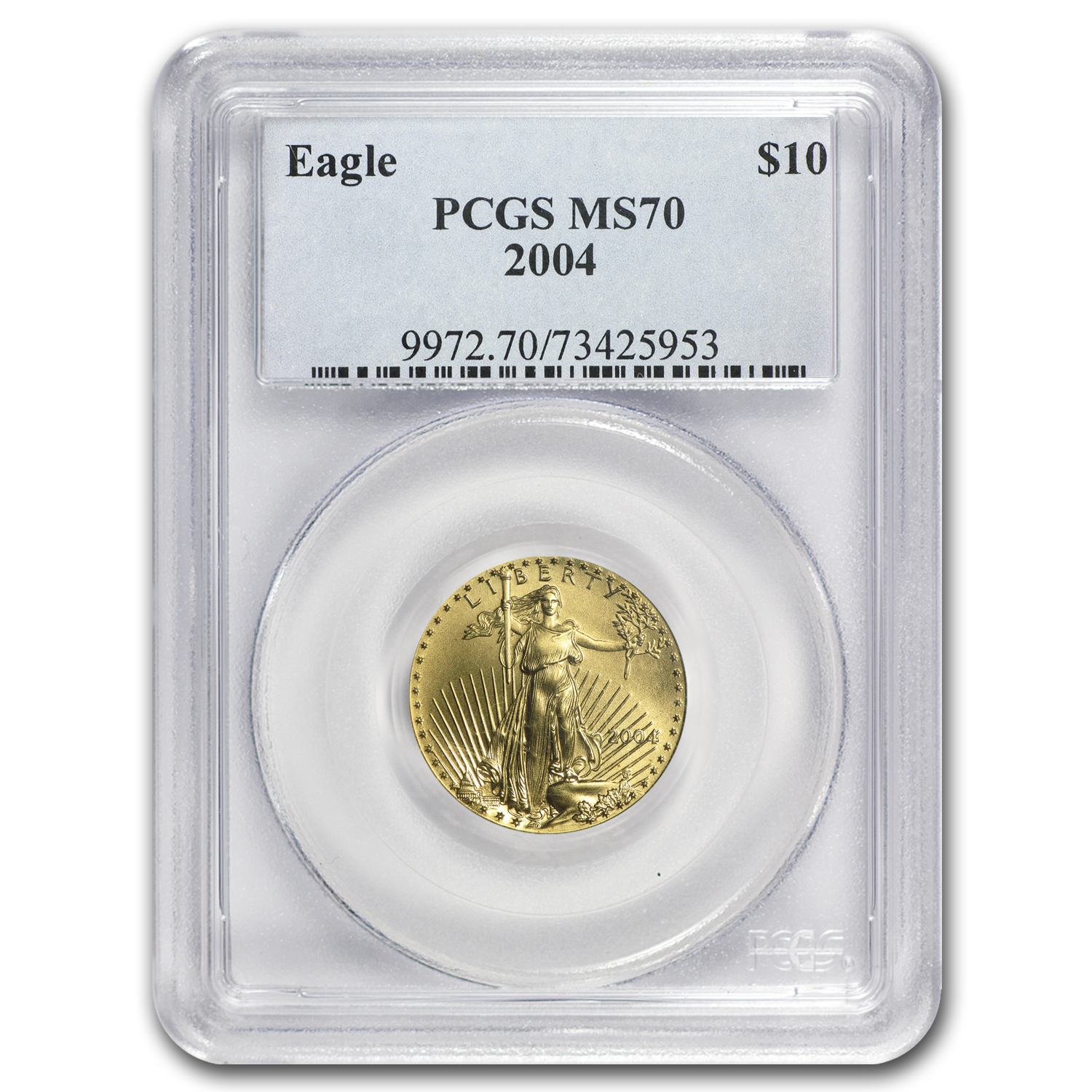 2004 1/4 oz Gold American Eagle MS-70 PCGS