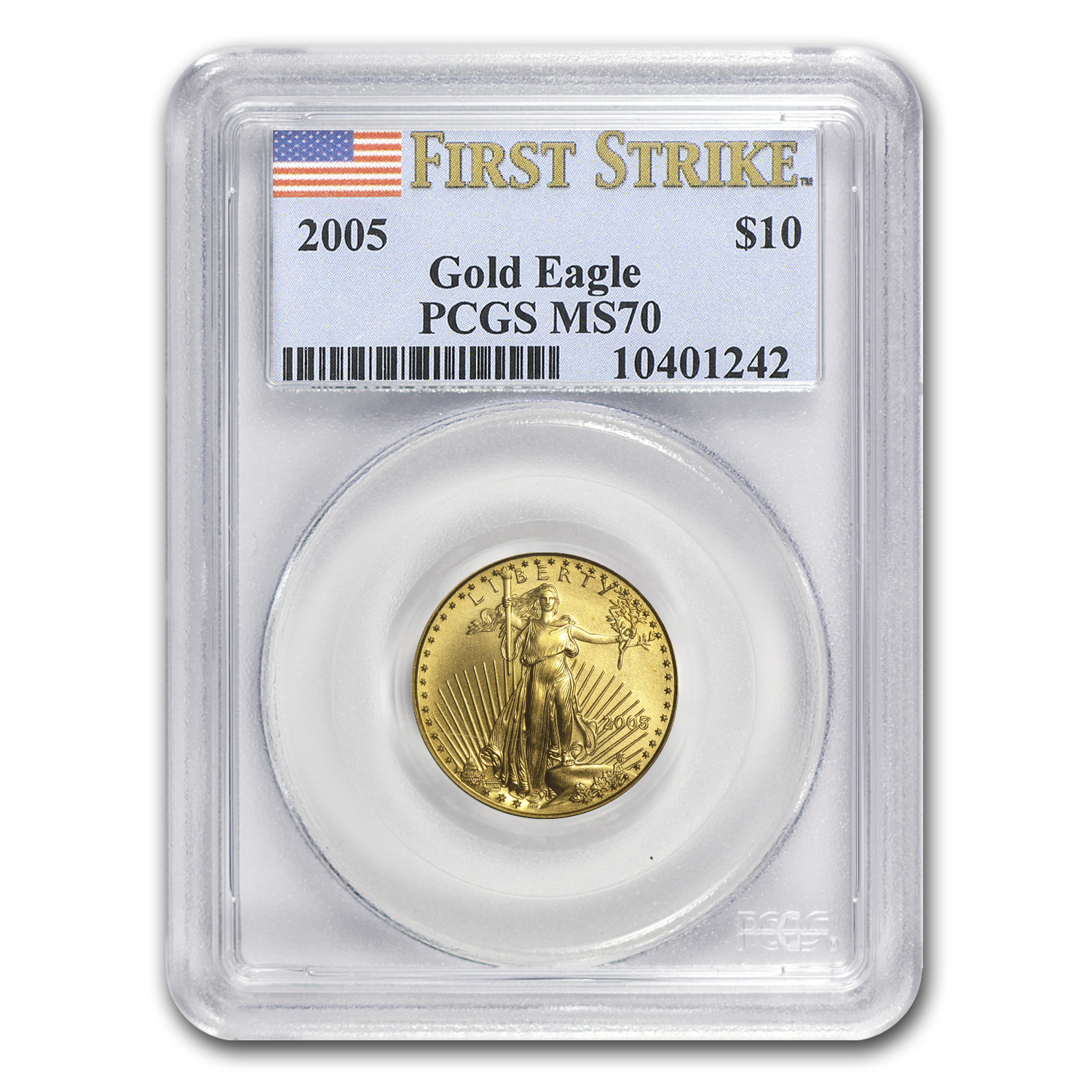 2005 1/4 oz Gold American Eagle MS-70 PCGS (FS)