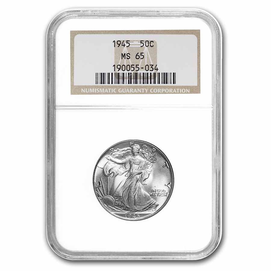 1945 Walking Liberty Half Dollar MS-65 NGC
