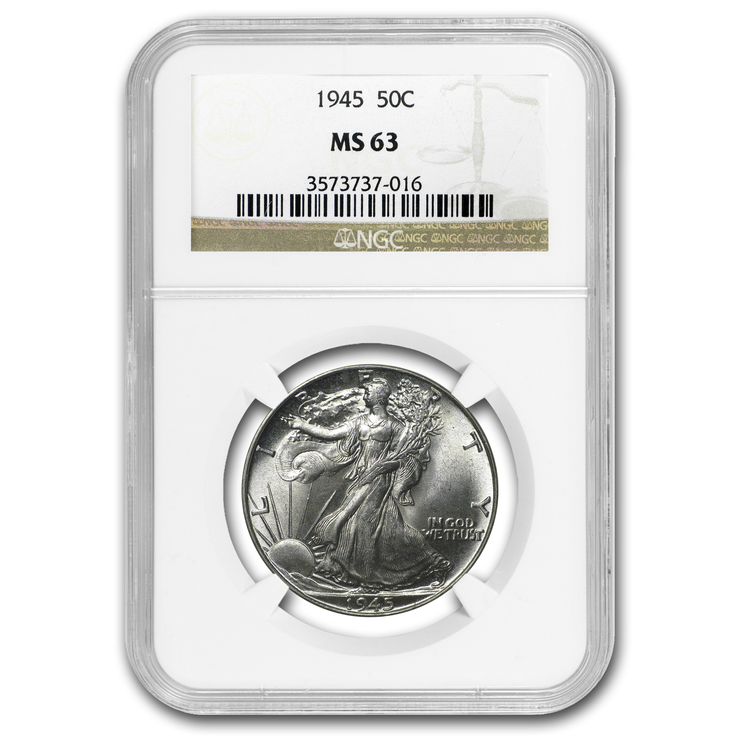 1940-1947 Walking Liberty Half-Dollar MS-63 NGC (Random)