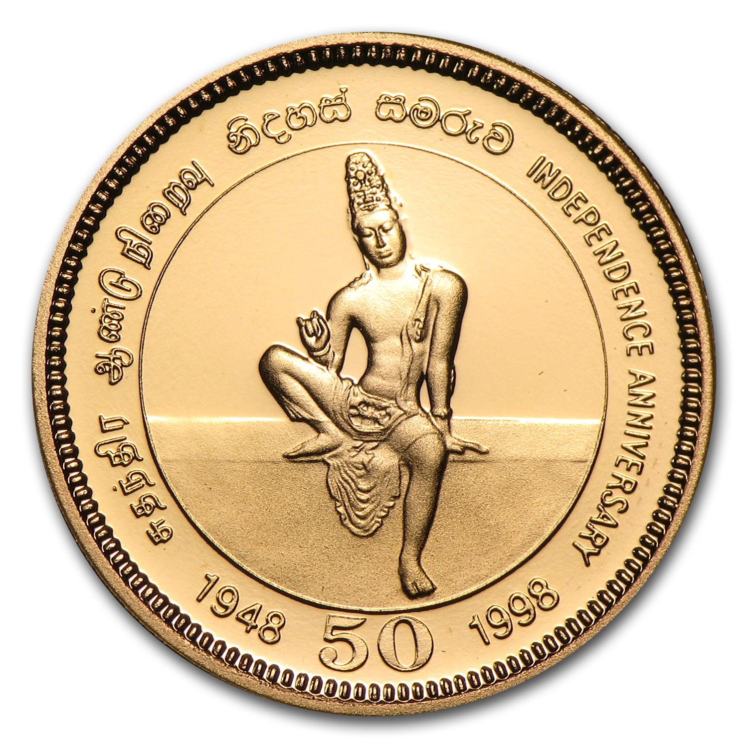 1998 Sri Lanka Gold 5000 Rupees Independence Proof
