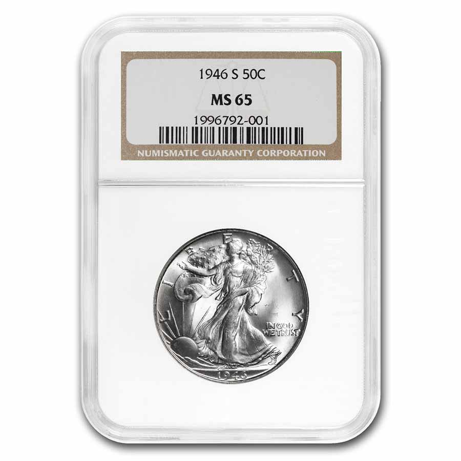 1946-S Walking Liberty Half Dollar MS-65 NGC