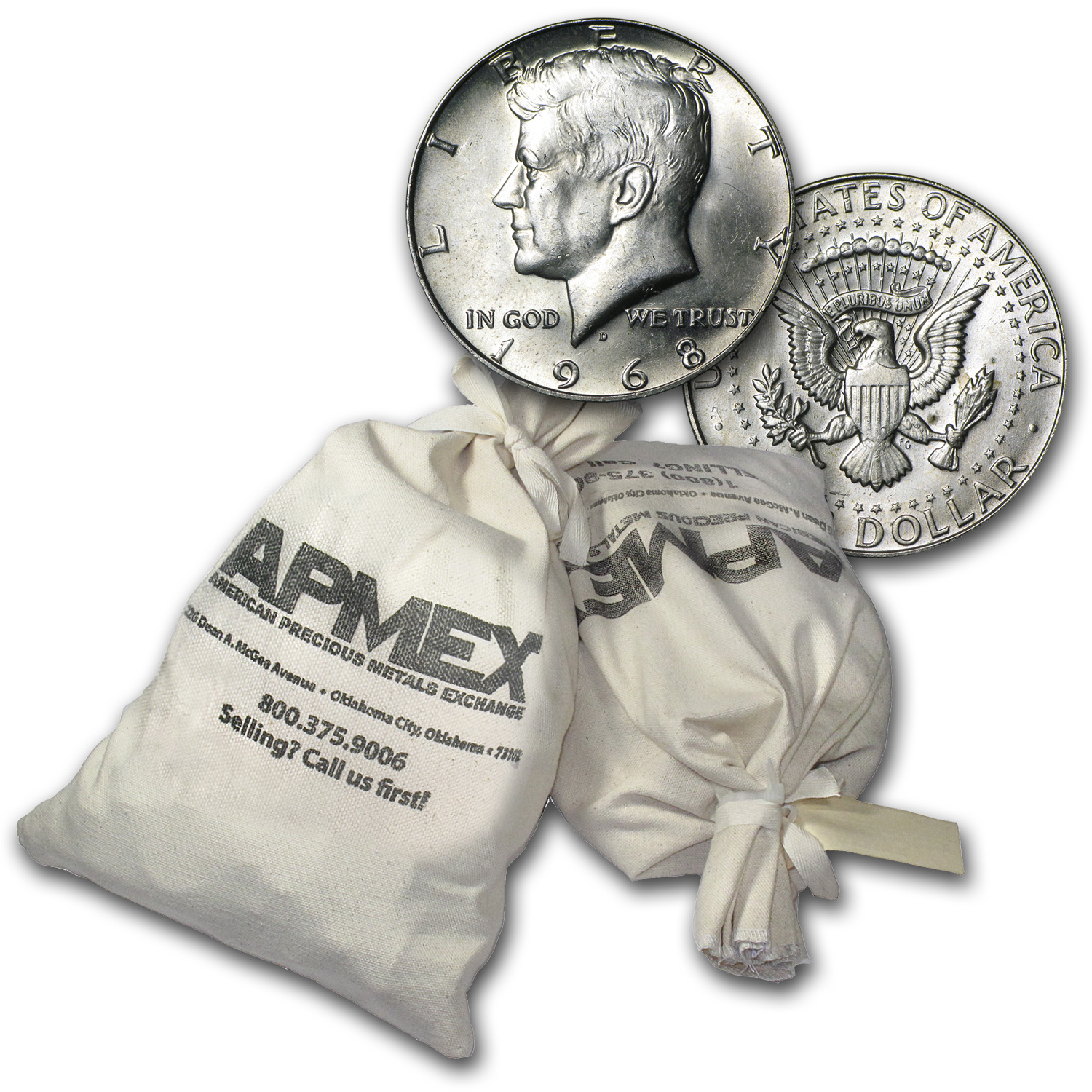 40% Silver Coins $1,000 Face Value Bag Avg Circ