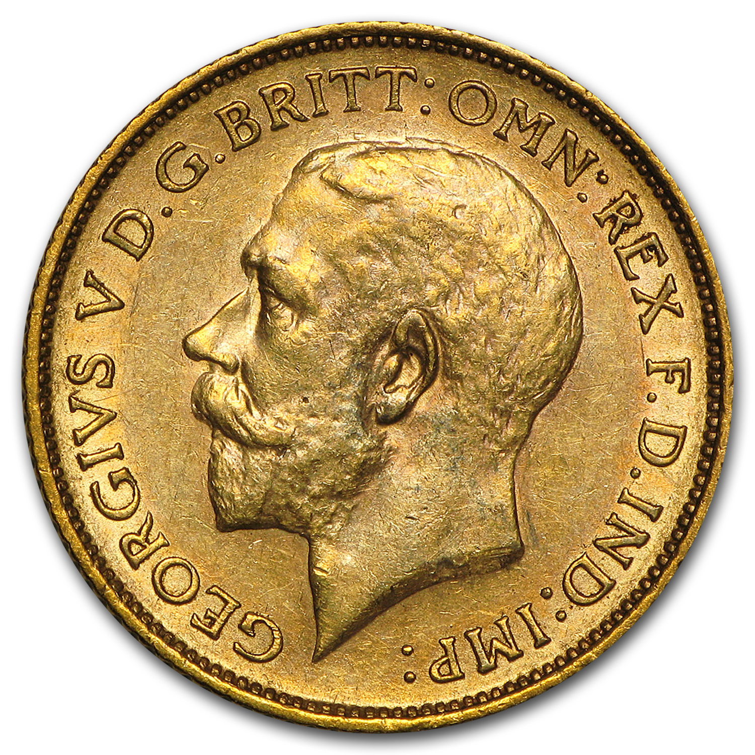 1911-1931-S Australia Gold Sovereign George V AU