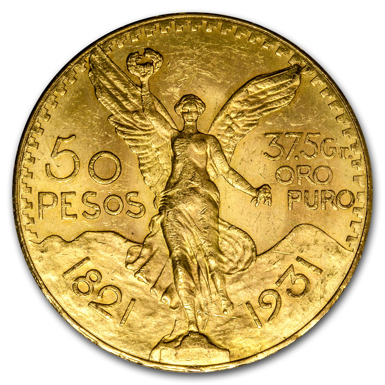 1931 Mexico Gold 50 Pesos AU