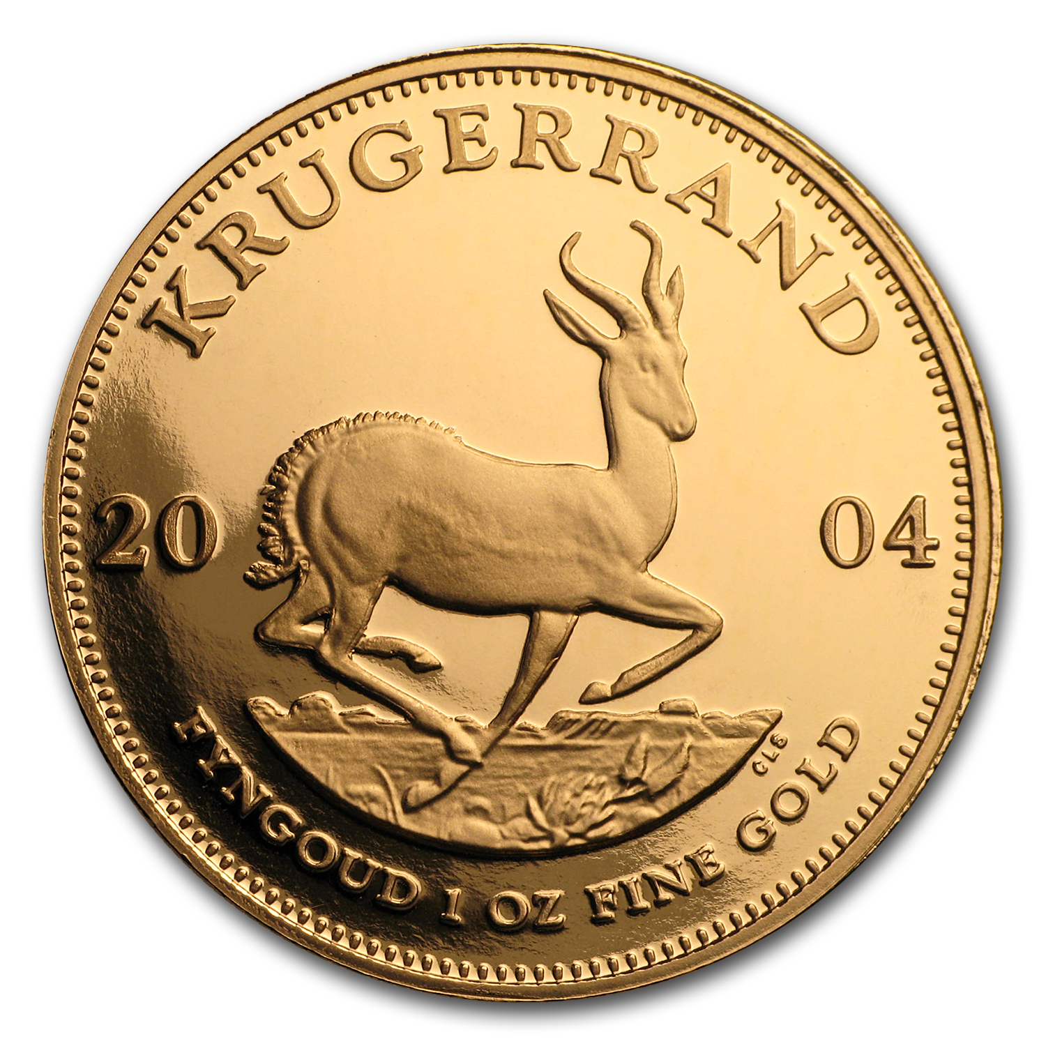 2004 South Africa 1 oz Proof Gold Krugerrand
