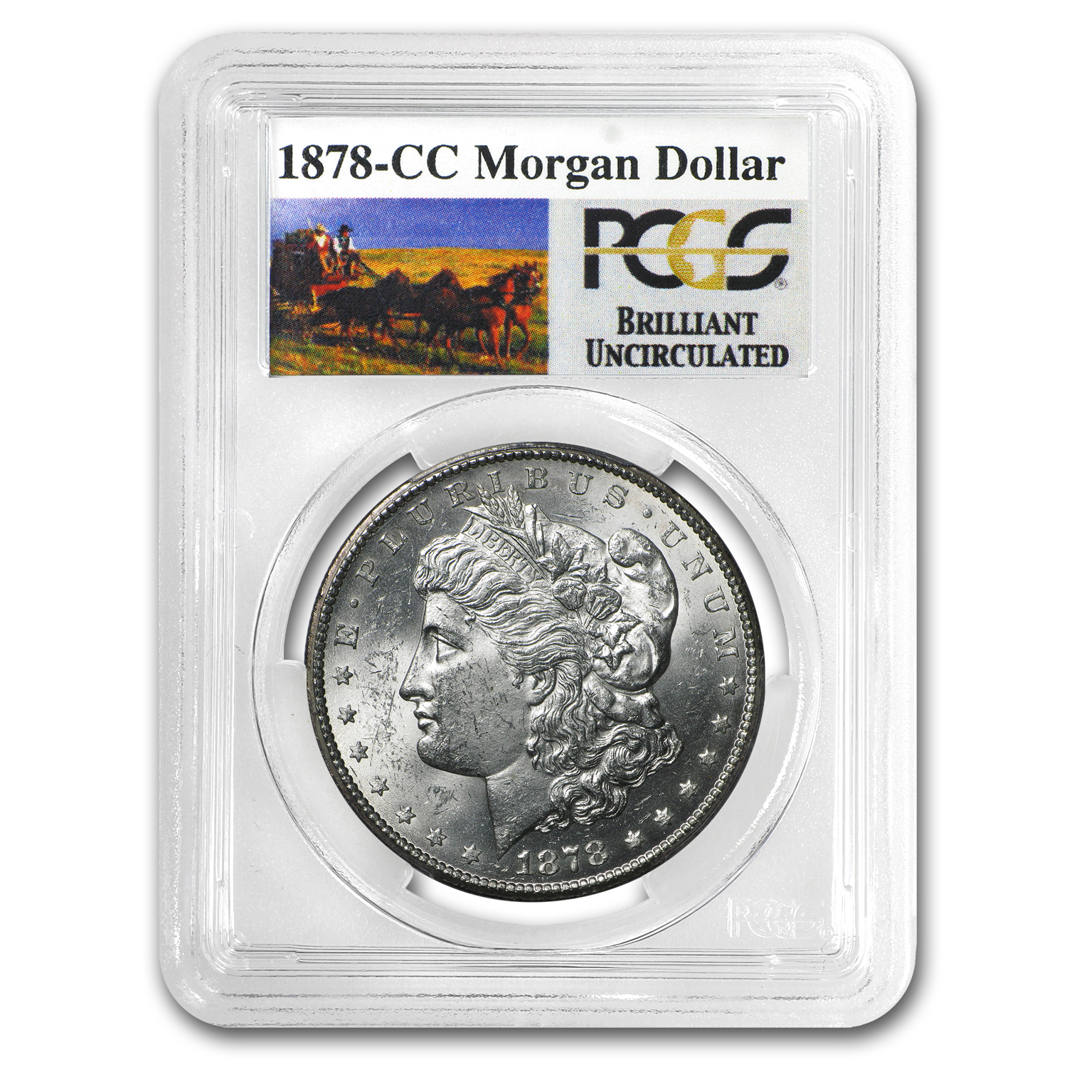 1878-CC Brilliant Uncirculated PCGS Stage Coach Silver Dollars