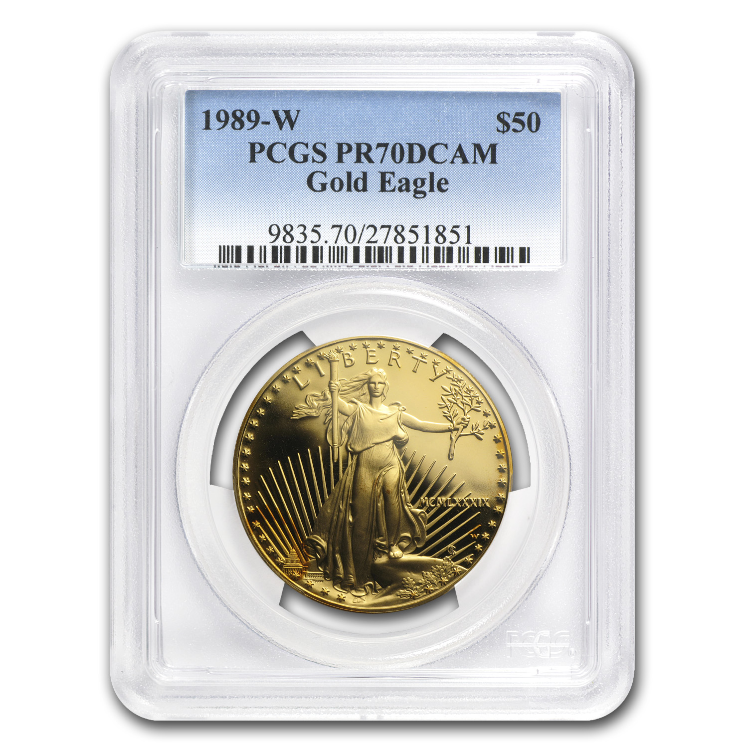1989-W 1 oz Proof Gold American Eagle PR-70 PCGS