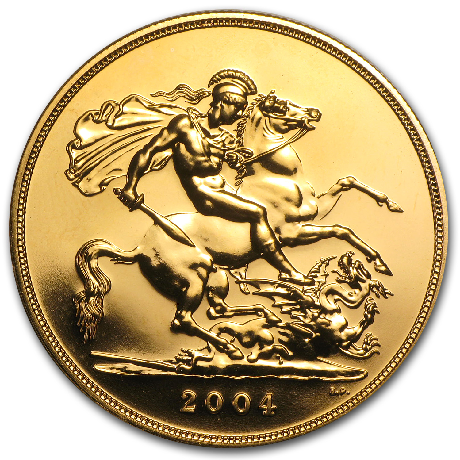 Great Britain 2004 5 Pounds Gold BU St. George & Dragon