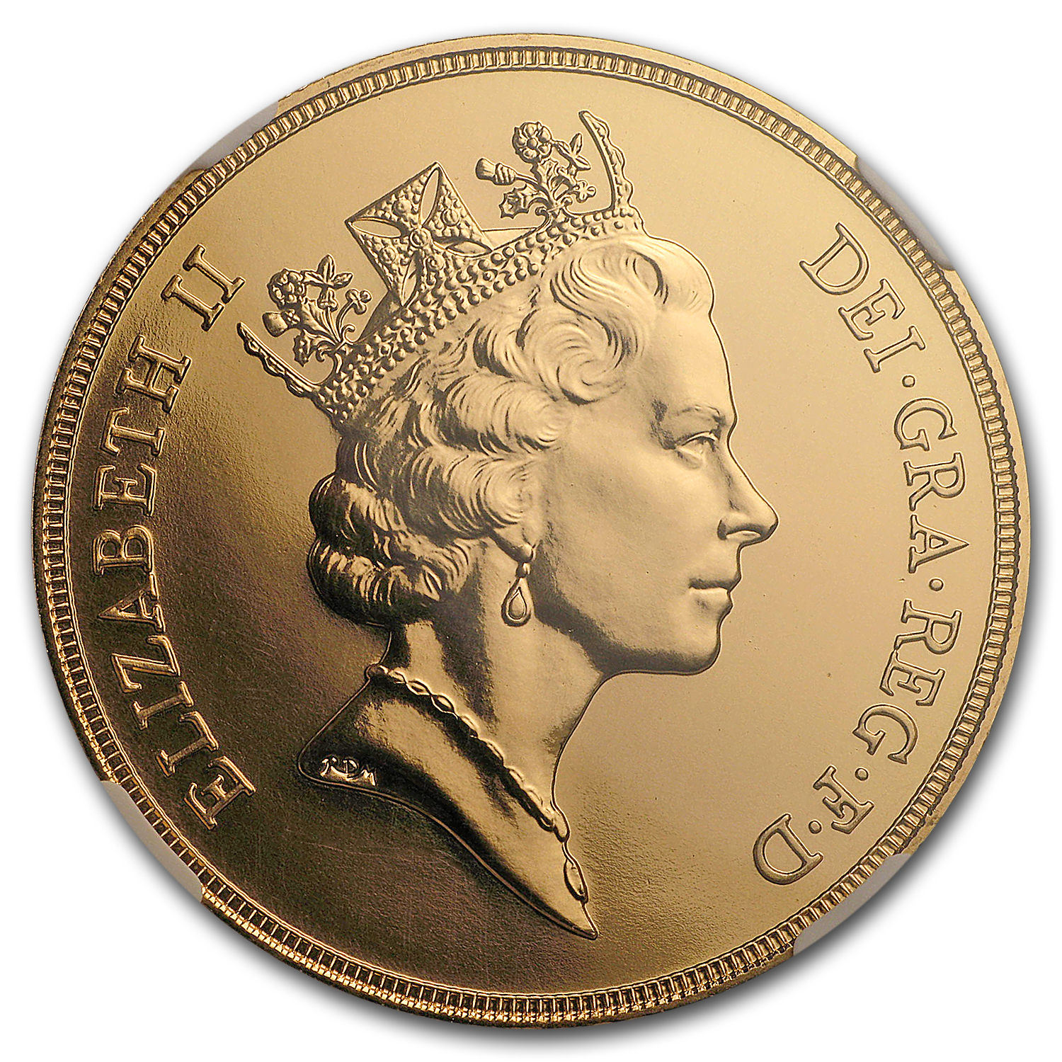 1985 Great Britain Gold £5 Sov MS-69 NGC